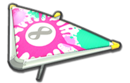 MK8D White Pink Splats Super Glider