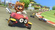 Tanooki Mario driving