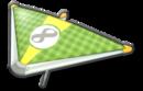MK8 Green Yellow Checkers Super Glider