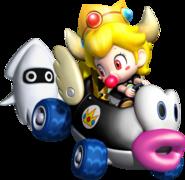 Koopa Kidette Holding Blooper Behind Her Kart - Mario Kart Insanity