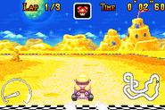 Cheese Land - Wario Time Trials - Mario Kart Super Circuit