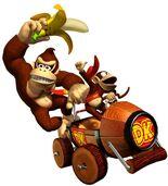Donkey Kong y Diddy Kong (mkdd)