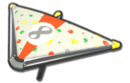 MK8 White OrangeRed Colorful Dots Super Glider