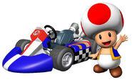 Toad in Mario Kart Wii