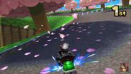 Mario Circuit 3DS Blossom Trees
