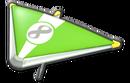 MK8 LimeGreen White Super Glider