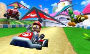 MK7 Mario Circuit Mario Peach Yoshi Gliding