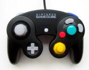 Black Nintendo Gamecube Controller