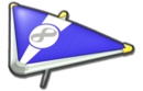 MK8 Blue White Super Glider