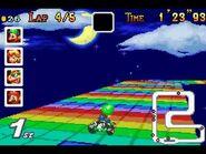 MKSC SNES RainbowRoad 3