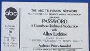 Password (October 16, 1971)