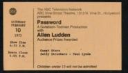 Password (February 10, 1973)