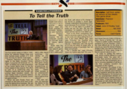 To Tell the Truth 2000 Article