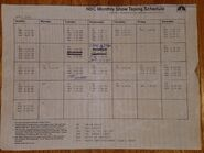 April 1984 Taping Schedule
