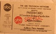 Password (February 13, 1972)