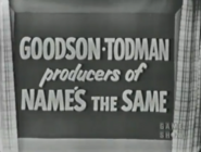 Goodson-Todman Producers of The Name's the Same 1953