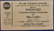 Password (October 09, 1971)