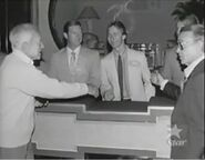 Mark Goodson Shake Hands with Feud Contestant