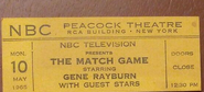 The Match Game (May 10, 1965)