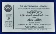 Password (October 23, 1971)