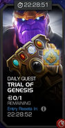 Trials of the Mad Titan - Trial of Genesis tile