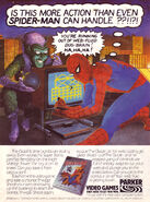 Spider-Man (Atari 2600) game ad - playing USA