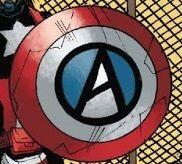 Edge of Spider-Geddon Vol 1 1 Captain Anarchy's shield.jpg
