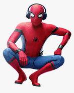 Spider-Man (Homecoming) Escuchando música