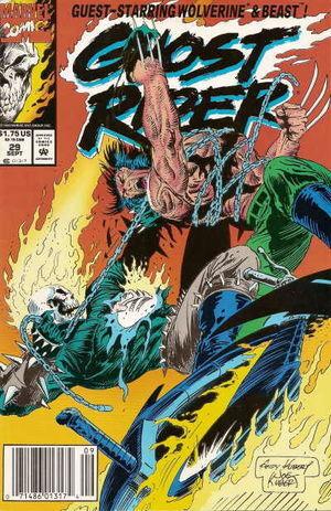 Couverture de Ghost Rider #29 (1992)