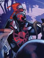 Miguel O'Hara (Tierra-928) y Peter Porker (Tierra-25) en Amazing Spider-Man Vol 3 9.png