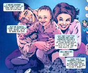 Peter Parker (Earth-616) as an infant with his parents Richard and Mary Parker from Amazing Spider-Man Vol 1 600.jpg