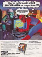 Spider-Man (Atari 2600) game ad - playing GERMANY