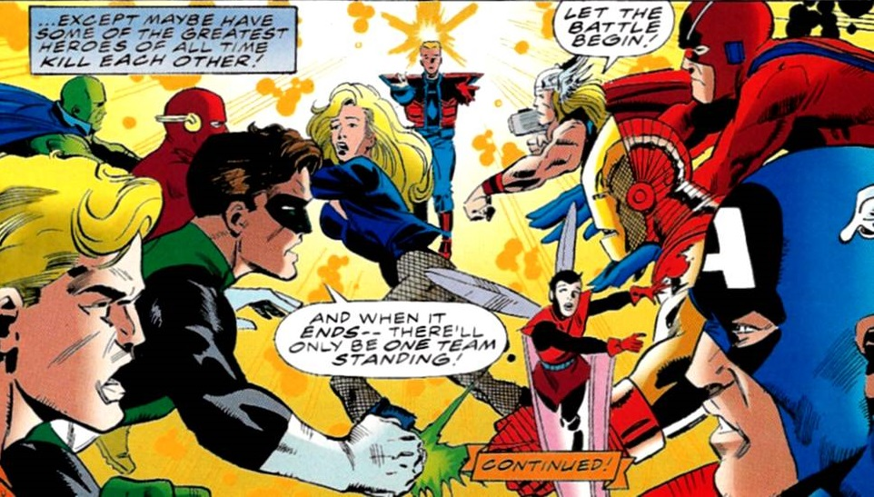 Avengers (Earth-616) vs the Justice League of America from Ulimited Access Vol 1 2.jpg