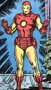 Anthony Stark (Earth-616) with Iron Man Armor MK V from Iron Man Vol 1 85 001.jpg