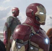 Anthony Stark (Earth-199999) and Vision (Earth-199999) from Captain America Civil War 001.jpg