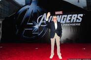 Стэнли Ли на премьере Мстителей.