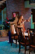 WandaVision Season 1 3 Wanda and Visiom pose