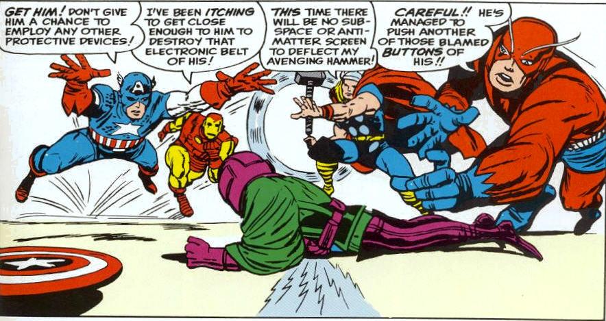 Nathaniel Richards (Kang) (Earth-6311) vs Avengers (Earth-616) from Avengers Vol 1 8 0006.jpg