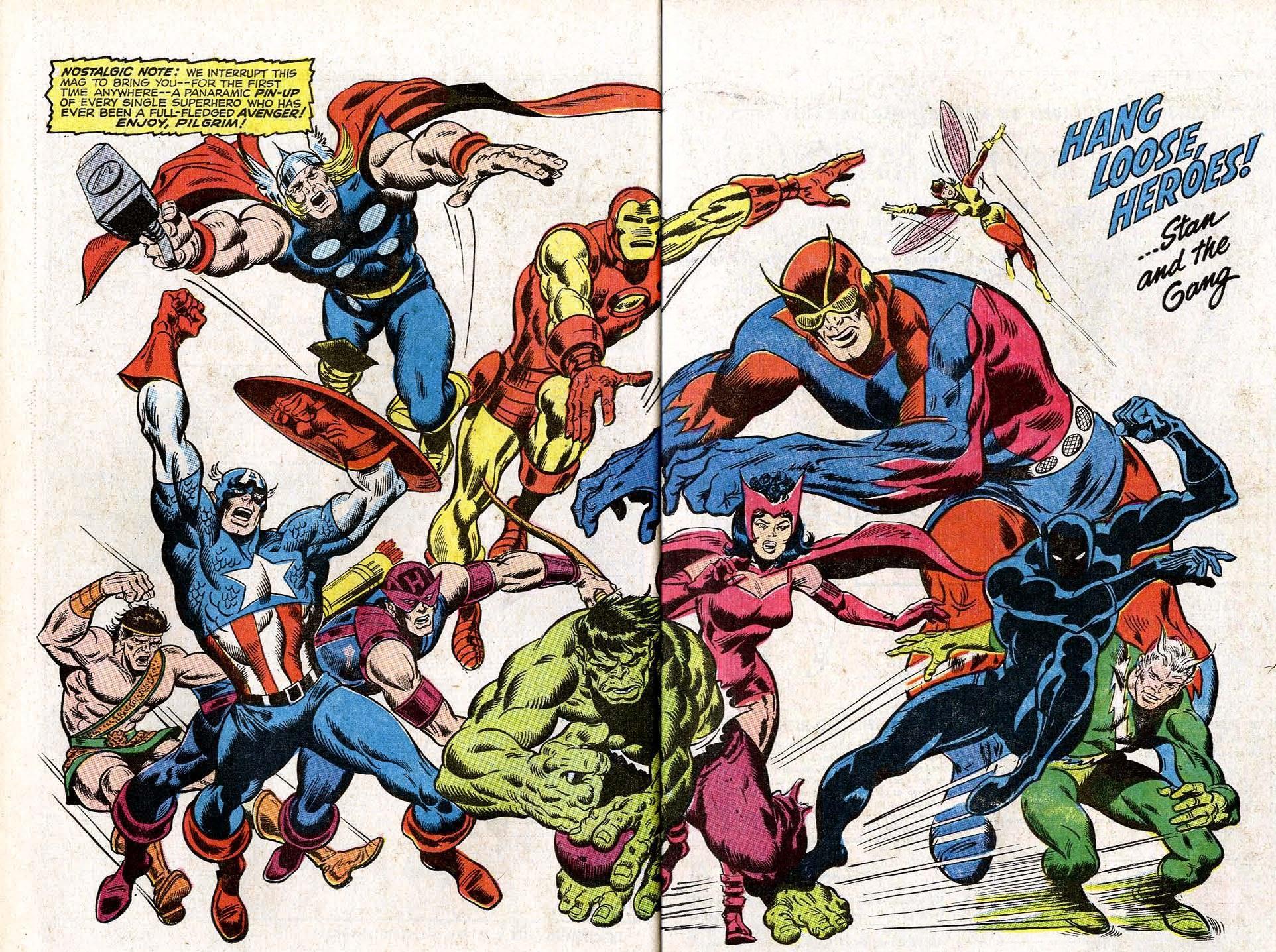 Avengers (Earth-616) each member to date from Avengers Annual Vol 1 2.jpg