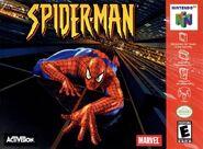 Spiderman (videojuego 2000 cubierta N64)