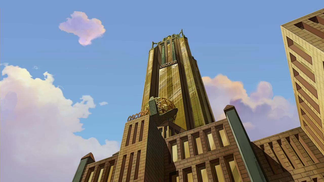 Здание Oscorp в Нью-Йорке