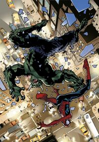 USM 115 Spider-Man and Green Goblin are falling.jpg