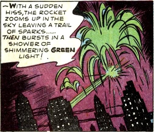 Green Sky-Rocket