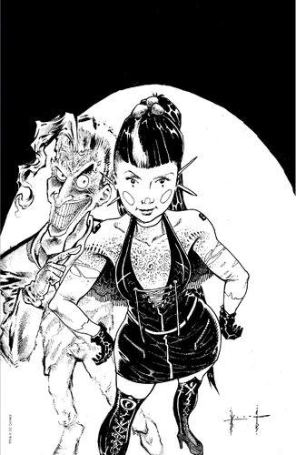 Exclusive World's Best Comics Virgin B&W Variant
