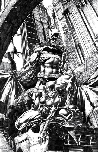 Exclusive Unknown Comic Books David Finch B&W Variant