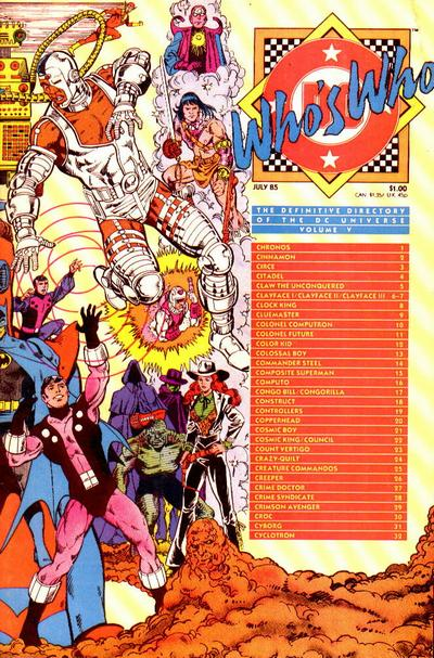 Who's Who: The Definitive Directory of the DC Universe Vol 1 5
