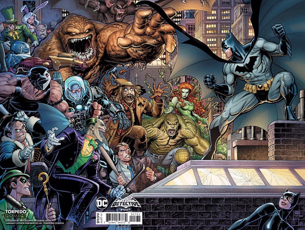 Detective Comics Vol 1 1027 Torpedo Comics Exclusive Textless Arthur Adams Variant.jpg
