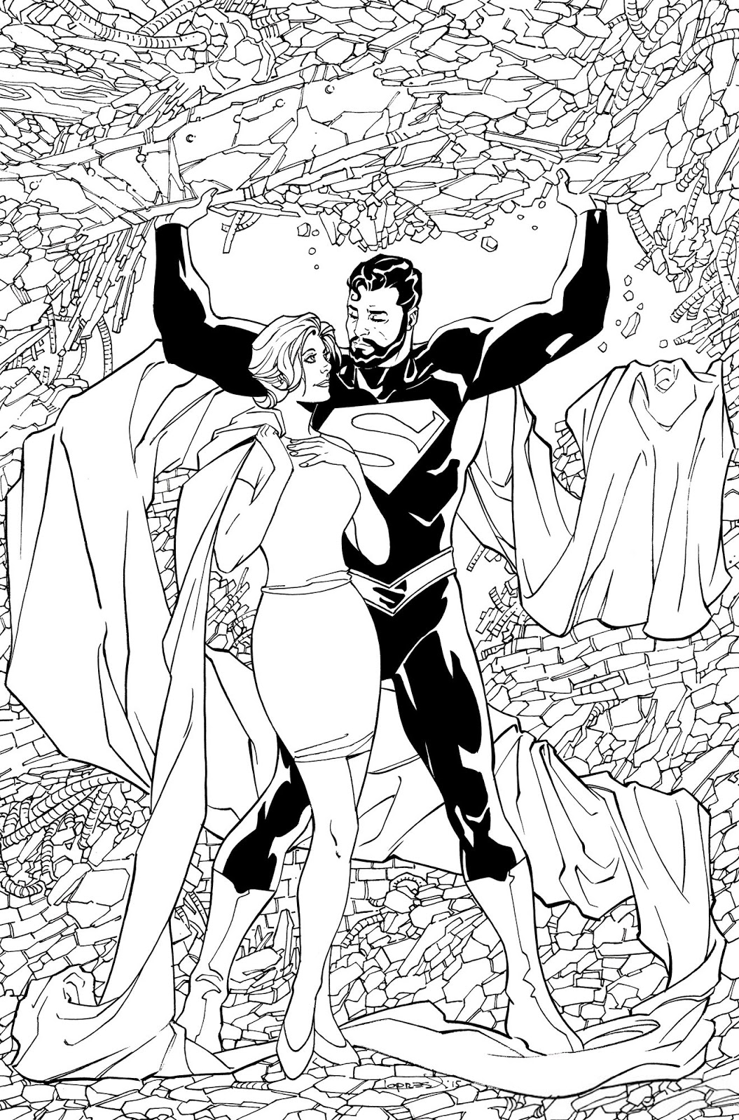 Superman Lois and Clark Vol 1 4 Textless Coloring Book Variant.jpg