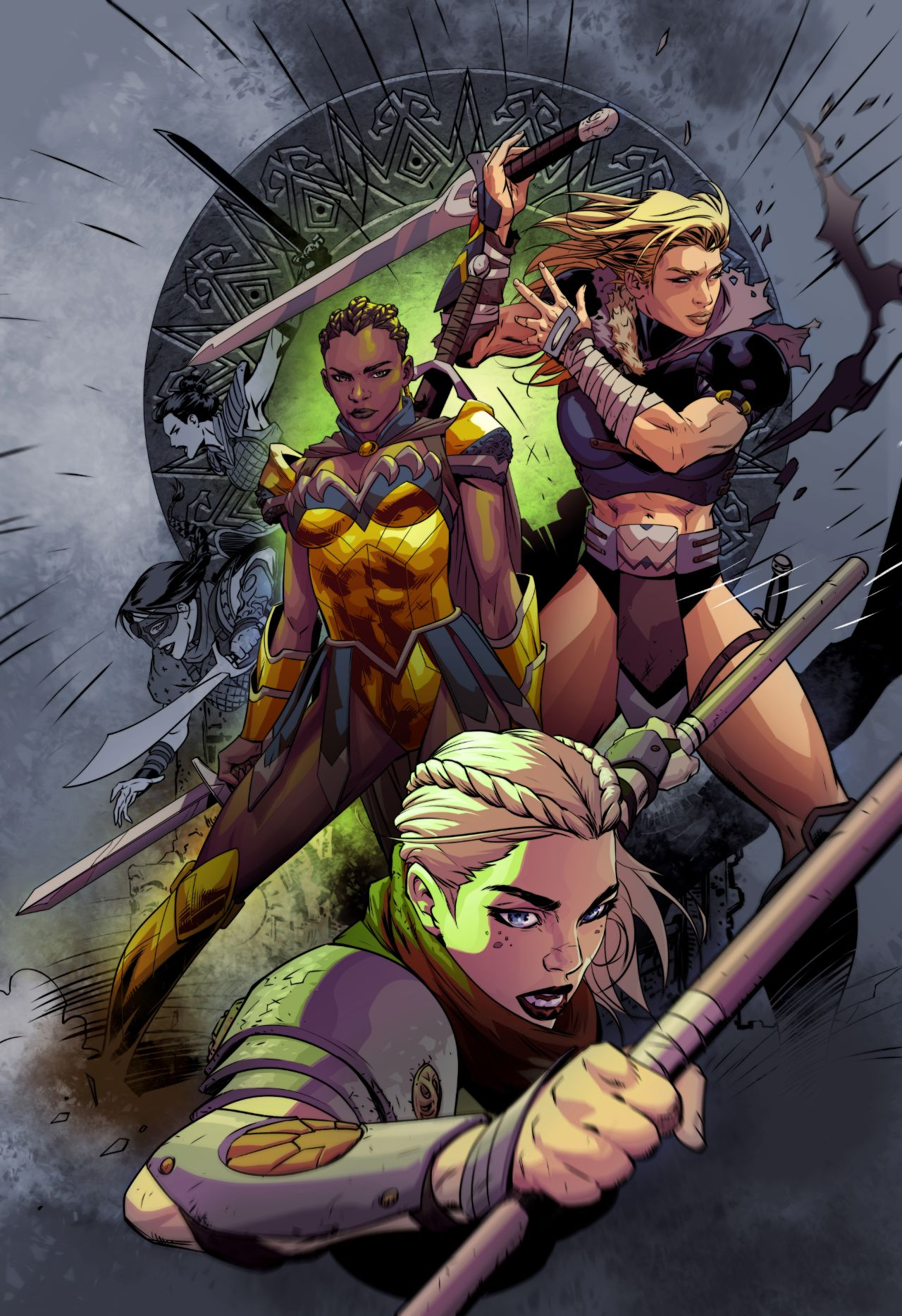 The Odyssey of the Amazons Vol 1 4 Textless Variant.jpg