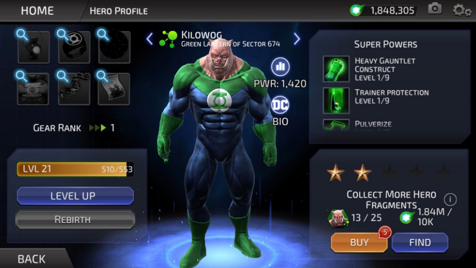 Kilowog (DC Legends)
